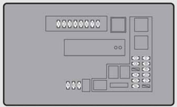 Lexus Gs350  2013 - 2014  - Fuse Box Diagram