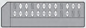 Lexus GS350 - fuse box - passenger's instrument panel