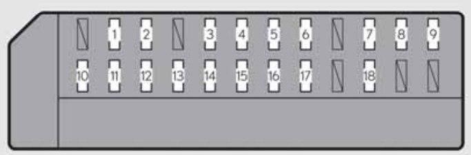 lexus gs350 - fuse box - right-side instrument panel (left-hand drive