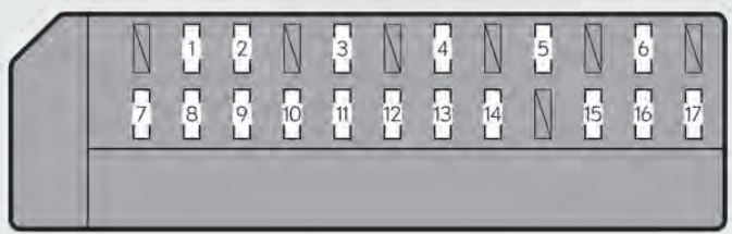 Lexus GS350  2013  2014   fuse box    diagram     Auto Genius