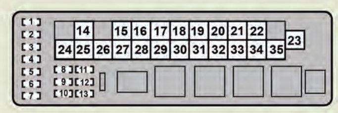Lexus GS460 2008 2009 fuse box diagram – Lexus Gs430 Engine Diagram