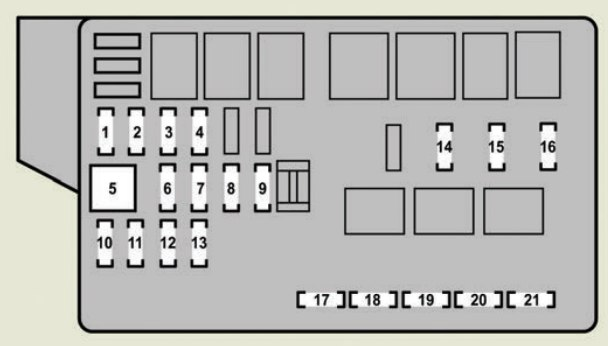 Lexus Gs430  2007  - Fuse Box Diagram