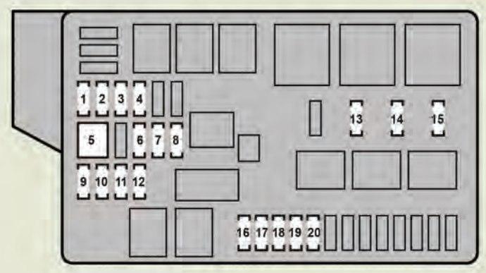 Lexus Gs460  2008 - 2009  - Fuse Box Diagram
