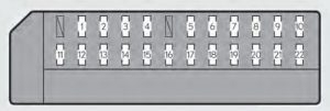 Lexus GS450h - fuse box -  driver's side instrument panel
