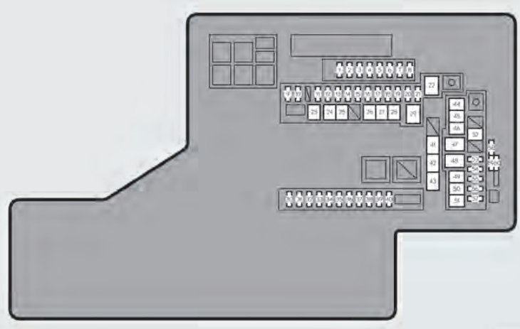 Lexus GS450h (2014) - fuse box diagram - Auto Genius