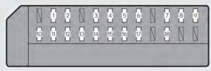 Lexus GS450h - fuse box -passenger's side instrument panel