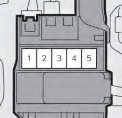 Lexus GS450h - fuse box - the upper part of the 12 volt battery