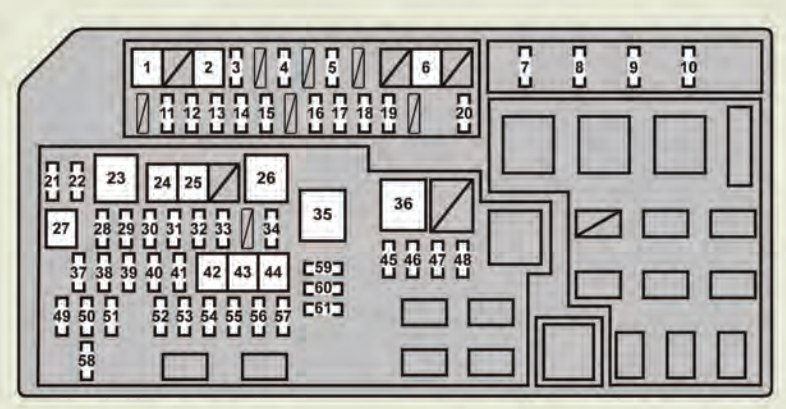 Lexus Gx460  2010 - 2011  - Fuse Box Diagram