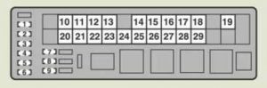 Lexus IS220d - fuse box - engine compartment (type A) - left-hand drive vehicle