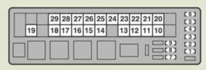 Lexus is220d - fuse box - engine compartment (type A) - right-hand drive vehicle