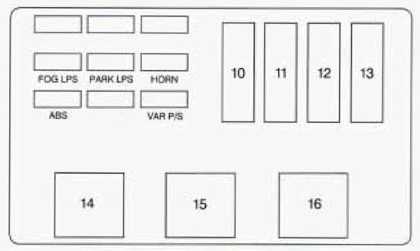 1996 oldsmobile achieva fuse box   32 wiring diagram