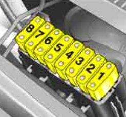 Opel Meriva - bezpieczniki - komora silnika