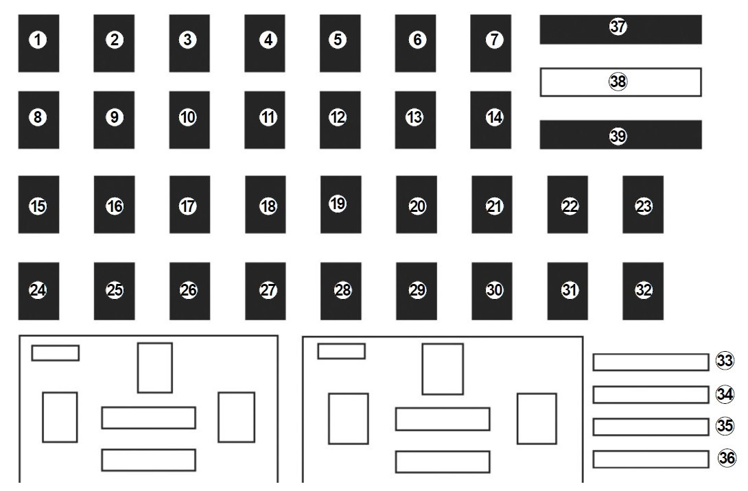 renault captur (2014 – 2016) – fuse box diagram