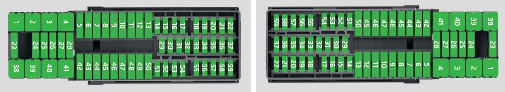 skoda rapid fuse box dashboard panel left hand vehicle right hand vehicle 2017 skoda rapid (2017) fuse box diagram auto genius green fuse botanicals at gsmx.co