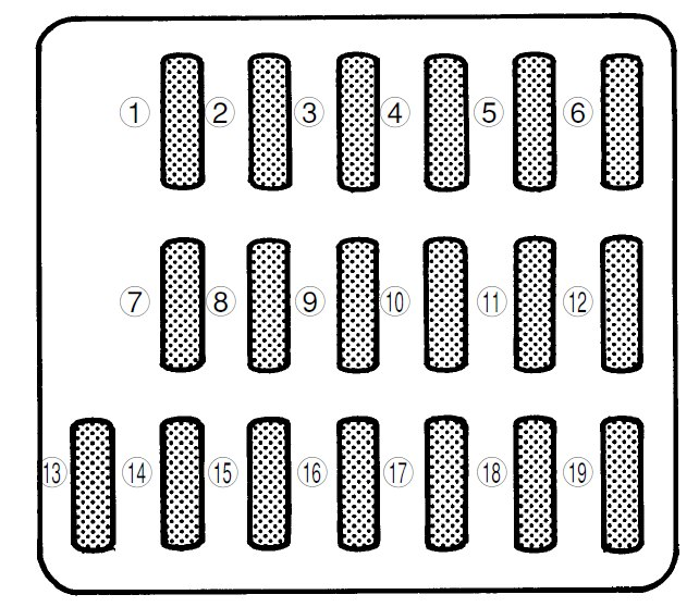 subaru forester  2000 - 2001  - fuse box diagram