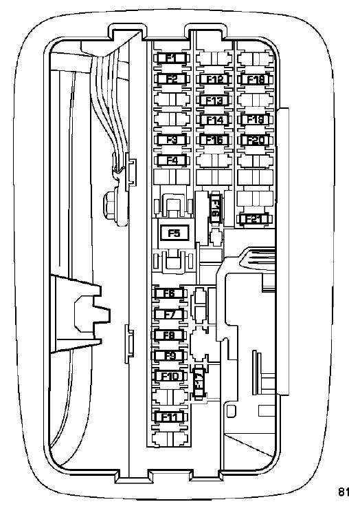 Dodge Durango  2009  - Fuse Box Diagram