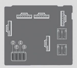 Smart Fortwo - fuse box - dashboard (rear side)