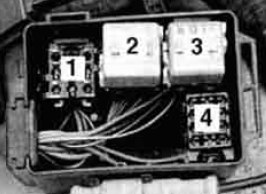 BMW 530i - fuse box -  auxiliary relay box