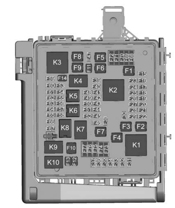 chevrolet camaro  2016  - fuse box diagram