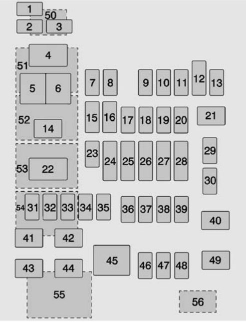 Chevrolet Suburban  2015 - 2016  - Fuse Box Diagram