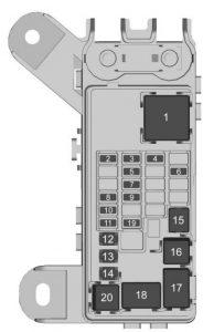 Chevrolet Suburban - fuse box - rear compartment