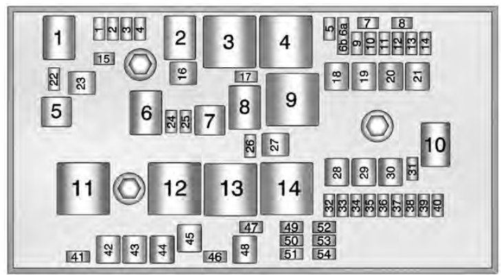 Chevrolet Volt  2013  - Fuse Box Diagram