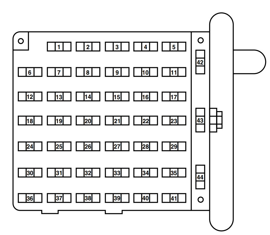 ford e-250 (2004) – fuse box diagram