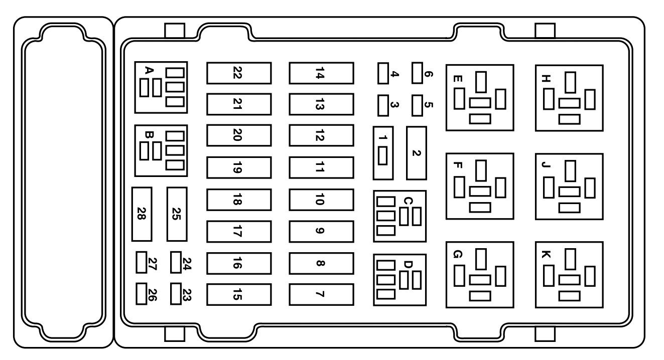 ford e-250 (2004) - fuse box diagram - auto genius 2003 ford e350 fuse box diagram