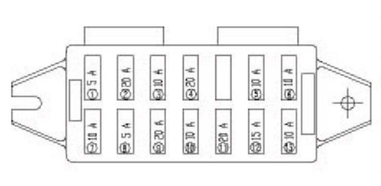 Yuchai Yc25-8 - Fuse Box Diagram