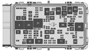 Buick Regal - fuse box diagram - engine compartment