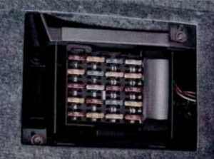 Buick River - fuse box diagram - passenger compartment (left side)