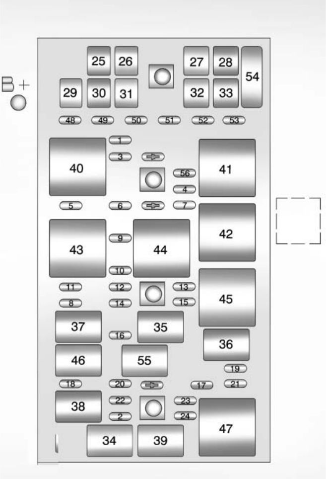 Chevrolet Corvette  2012 - 2013  - Fuse Box Diagram