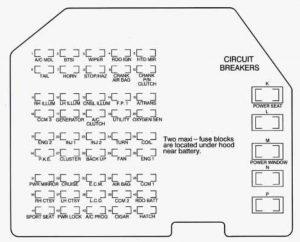 chevrolet corvette (1995 – 1996) – fuse box diagram