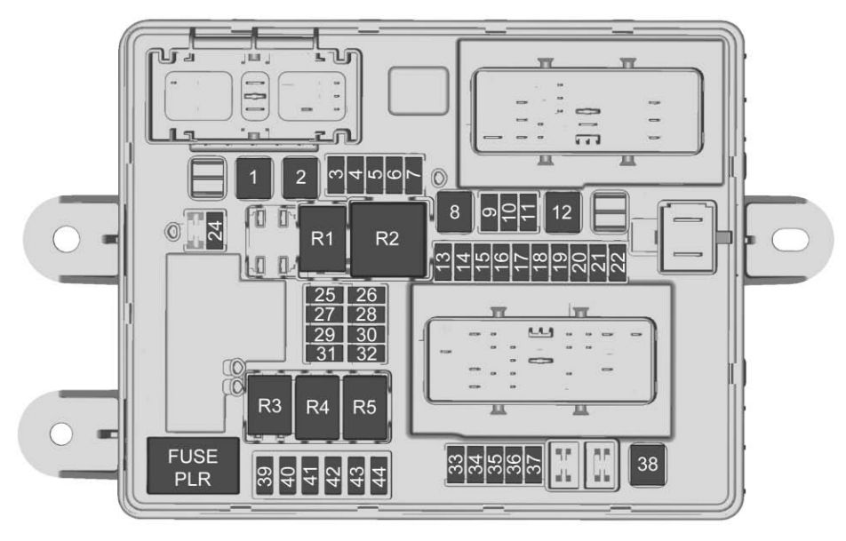 Chevrolet Corvette  2017 - 2018  - Fuse Box Diagram