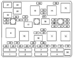Chevrolet Malibu - fuse box diagram - engine compartment