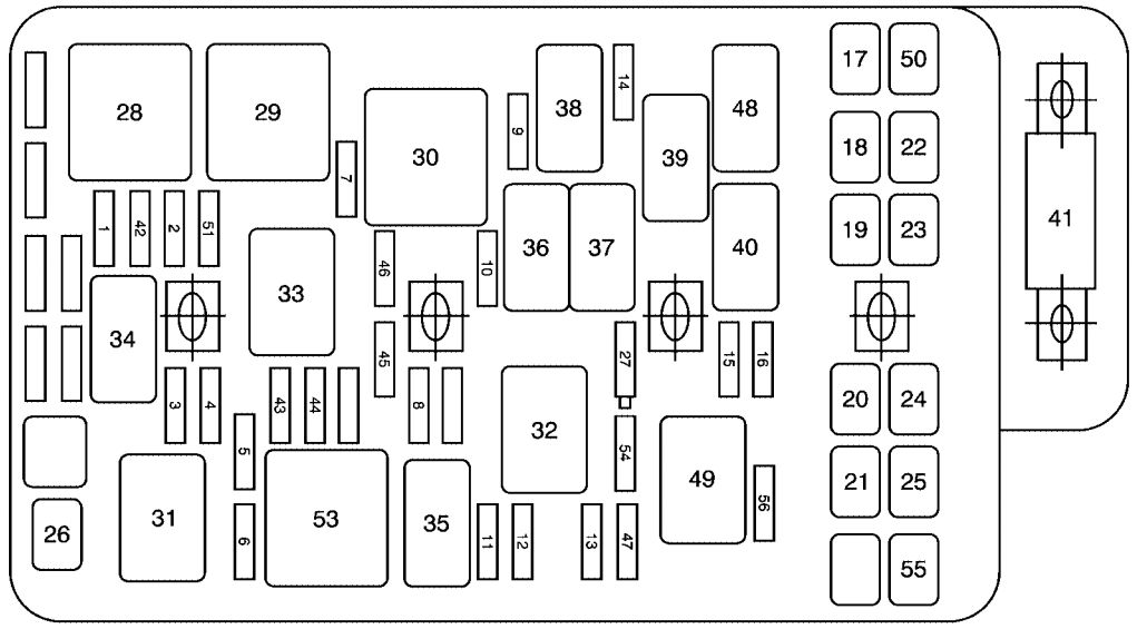 chevrolet malibu  2010  - fuse box diagram