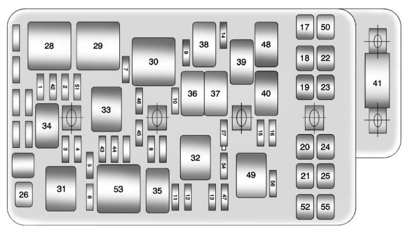 chevrolet malibu (2011 – 2012) – fuse box diagram