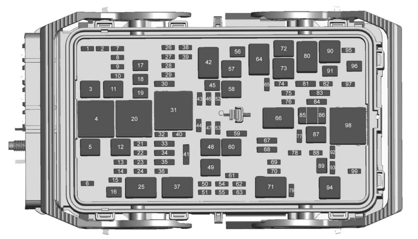 chevrolet malibu  2018  - fuse box diagram