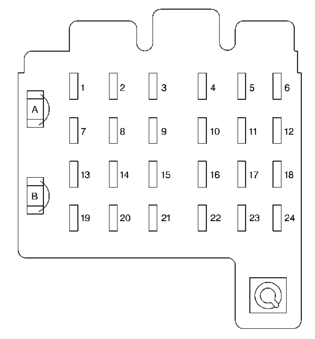 Chevrolet Tahoe (1999) - fuse box diagram - Auto Genius