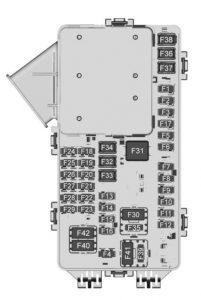 Chevrolet Traverse - fuse box diagram - instrument panel