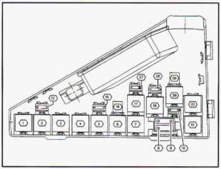 Cadilac Catera 97 98 Fuse Box Diagram