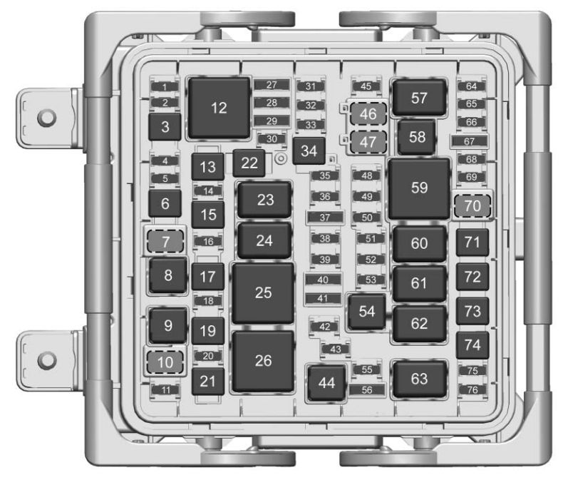 Cadillac Cts  2017  - Fuse Box Diagram
