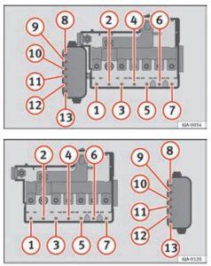 Seat Toledo - fuse box diagram - engine compartment