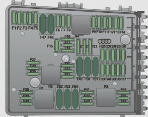 audi a3 2009 fuse box diagram auto genius. Black Bedroom Furniture Sets. Home Design Ideas
