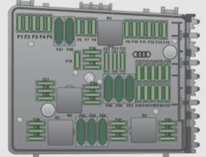 Audi TTS Coupe - fuse box diagram - engine compartment