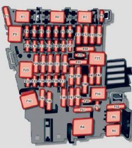 Audi TTS Coupe - fuse box diagram - instrument panel