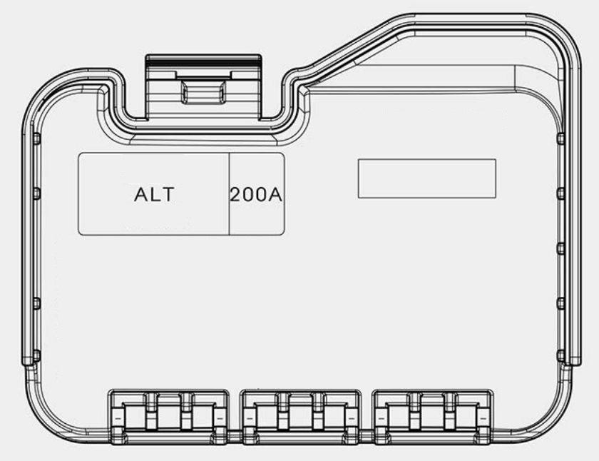 Kia Cadenza  2017 - 2018  - Fuse Box Diagram