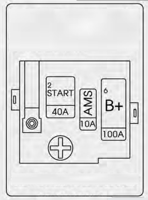 kia k900  2015  - fuse box diagram