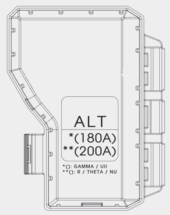 Kia Sportage  2017 - 2018   U2013 Fuse Box Diagram