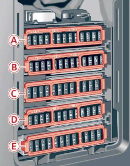 audi a4 (2017) fuse box diagram auto genius 2017 A4 Black at Footwell Fuse Box A4 2017